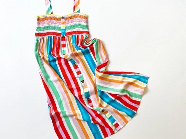 Wonder Nation Girls Sleeveless Smocked Maxi Dress