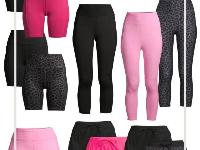 Athletic Works Capri Leggings, Bike Shorts and Running Shorts