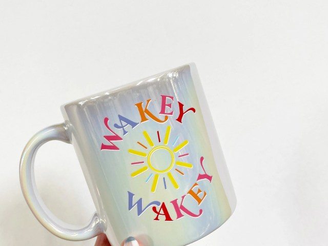 Packed Party 'Wakey, Wakey!' Jumbo Iridescent 23 oz. Ceramic Coffee Mug