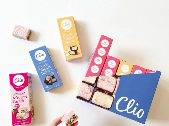 Clio Greek Yogurt Bars at Walmart