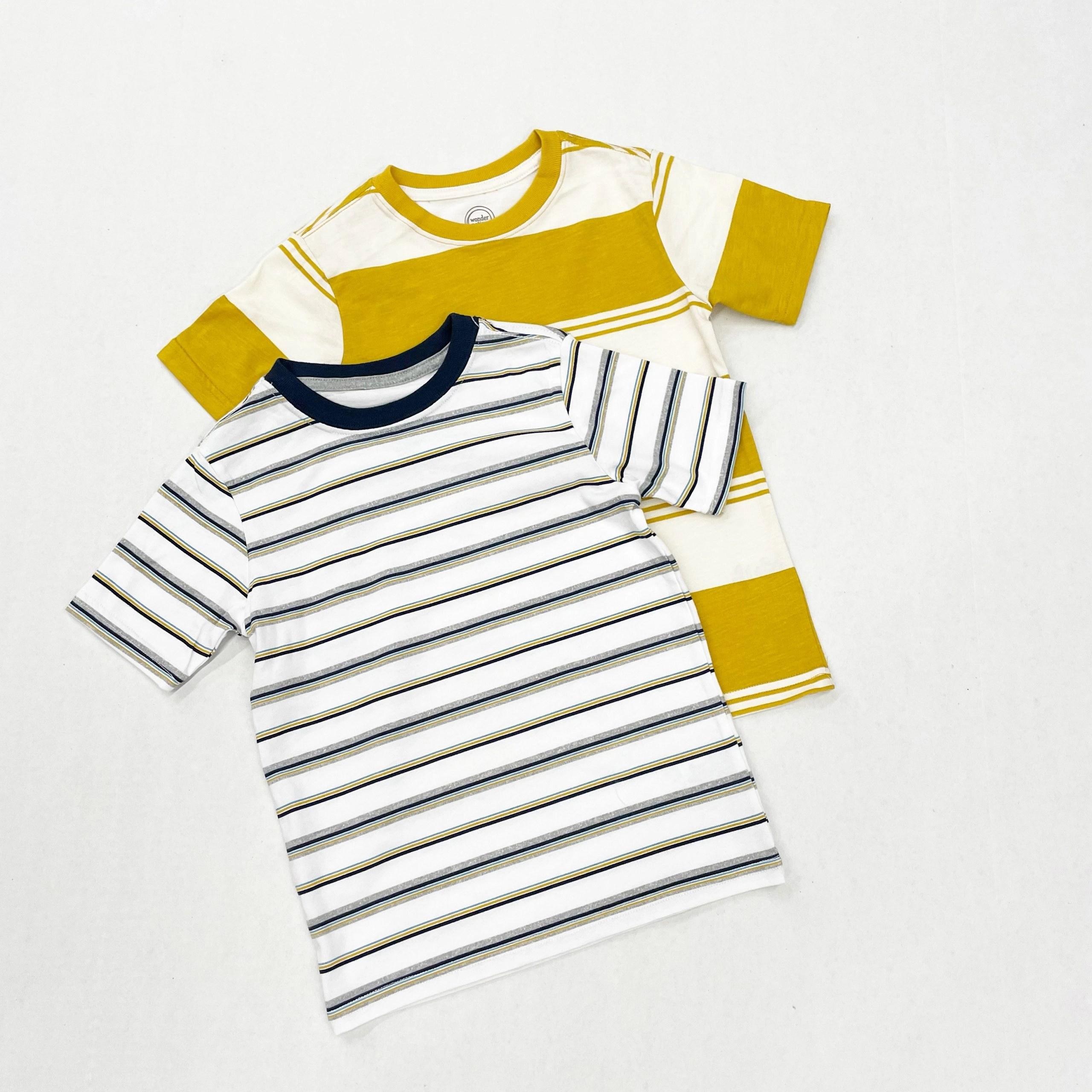 Wonder Nation Boys Stripe Short Sleeve T-Shirt, Sizes 4-18 & Husky