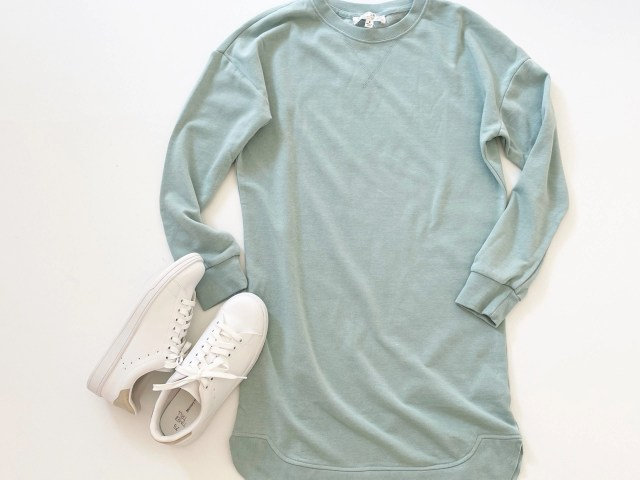 Wild Skye Juniors' Drop Shoulder Sweatshirt Dress