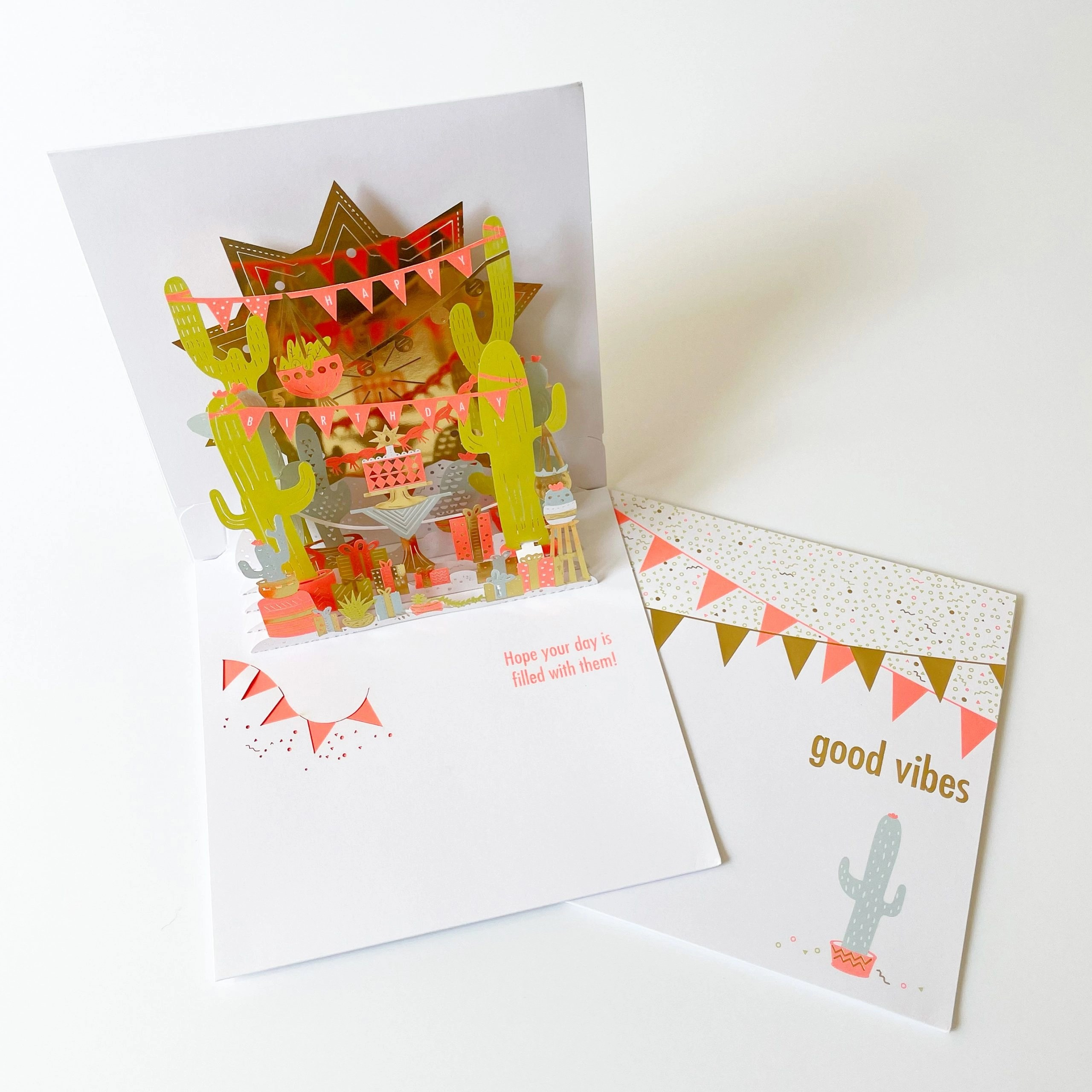 American Greetings Good Vibes Pop-Up Birthday Greeting Card with Foil