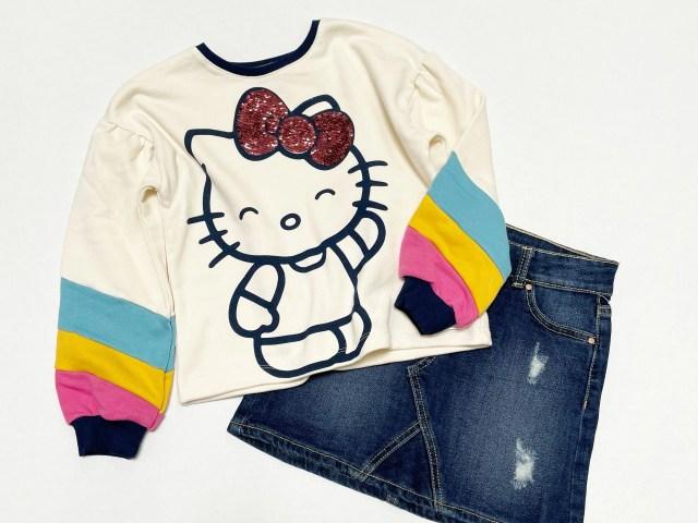 Garanimals Girls 365 Fall Hello Kitty Pullover Top and Wonder Nation Girls Woven Skirt