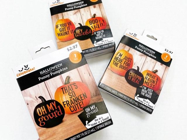 Way To Celebrate Halloween Pumpkin No-Carve Punny Pumpkins Kit
