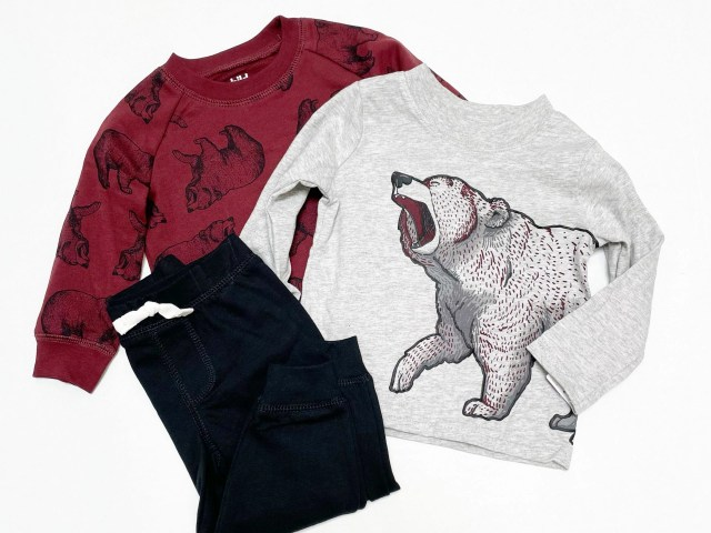 Child of Mine by Carter's Baby Boy & Toddler Boy Long-Sleeve Bear Sweatshirt, T-Shirt & Pants Outfit Set