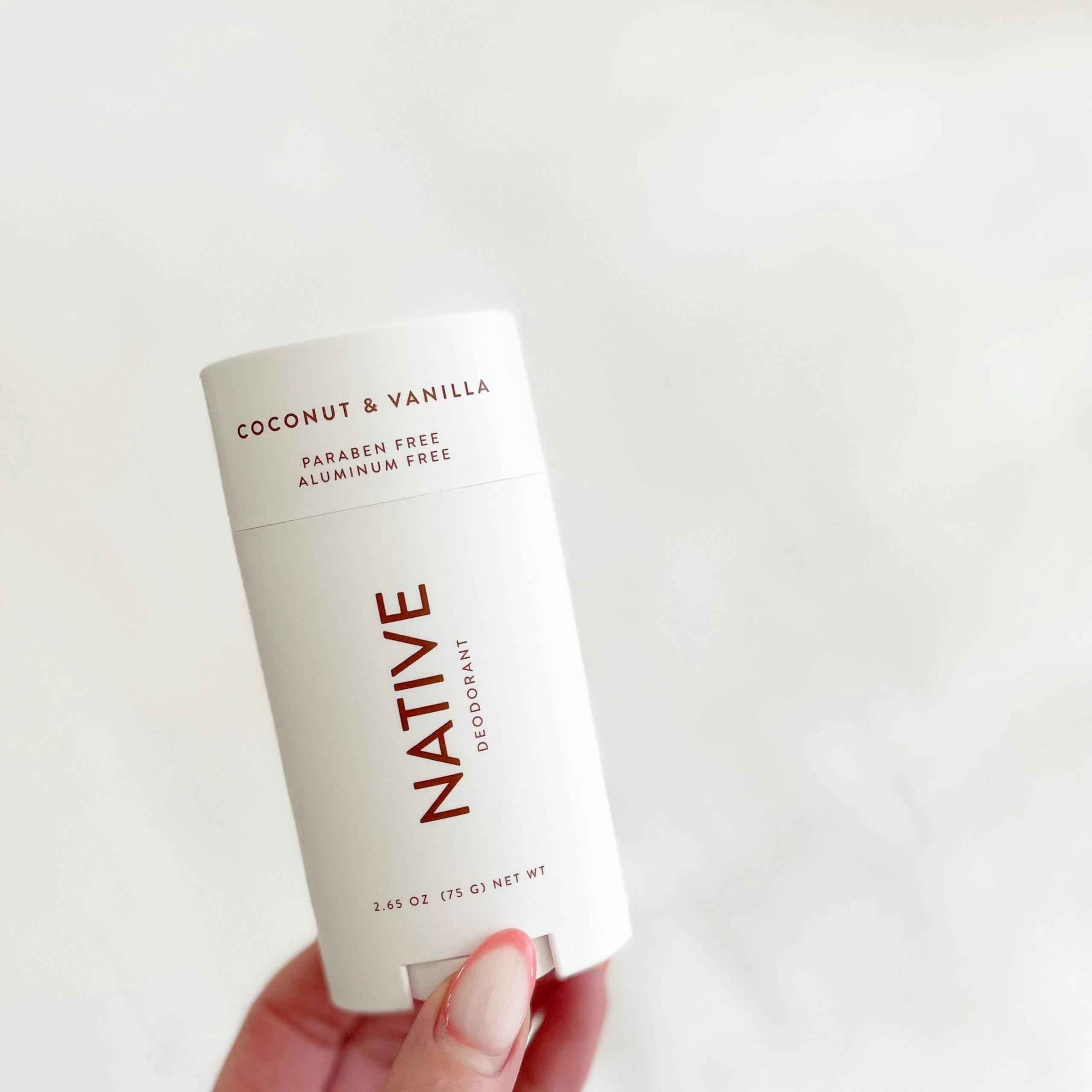 Native Natural Deodorant, Coconut and Vanilla, Aluminum Free, 2.65 Oz