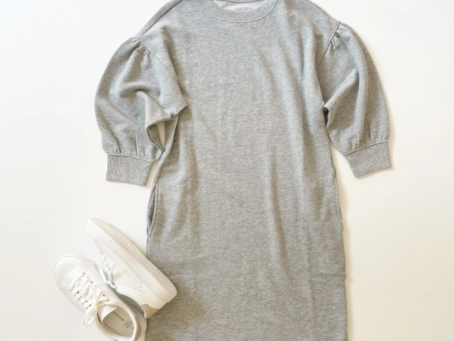 Time and Tru Sweatshirt Dress and Classic Court Sneakers