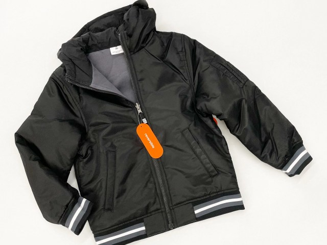 Wonder Nation Boys Reversible Bomber Jacket