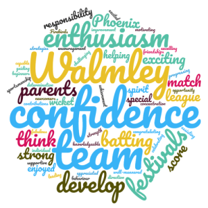 Word cloud for Girls Cricket