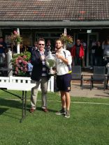 Presentation of the trophy to captain Jon Newis