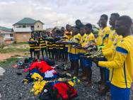 December: Champions Soccer Academy, Ghana receive kit donated via Boots 2 Africa