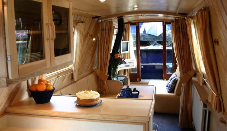 Interior Designer Walnut Designs Narrowboat Interior