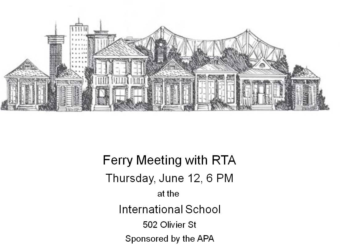 Algiers Ferry Meeting with RTA, Thursday, June 12, 2014