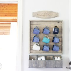 Farmhouse Kitchen Hardware Drop In Sink How To Make A Wall Mounted Coffee Bar   Walnuthollowcrafts