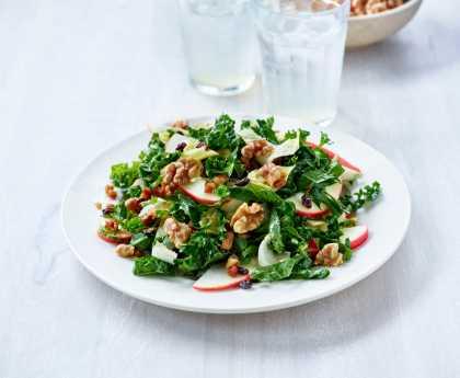 Kale Apple Pancetta Walnut Salad
