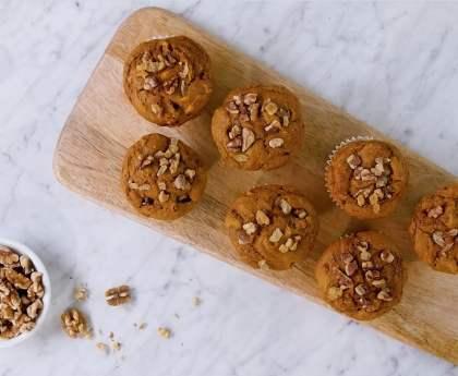 Pumpkin Walnut Cream Cheese Muffins