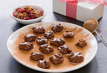 mexican dark chocolate cinnamon coated walnuts