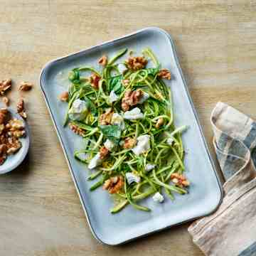 Lemony Zucchini Salad with Walnuts