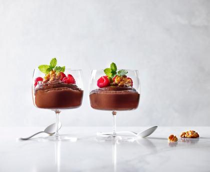 Walnut, Chocolate and Avocado Mousse