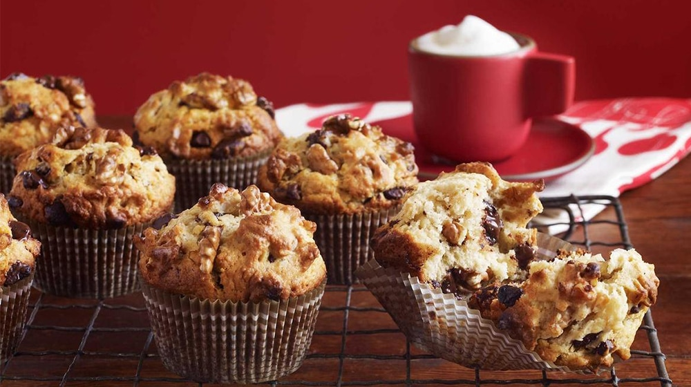 Chocolate Chip and Walnut Muffins
