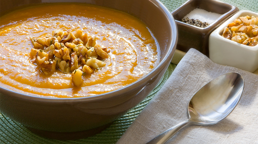 Roasted Root Vegetable Soup with Rosemary