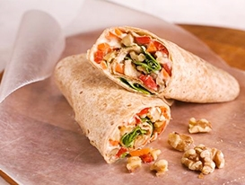 Hummus and Veggie Wrap