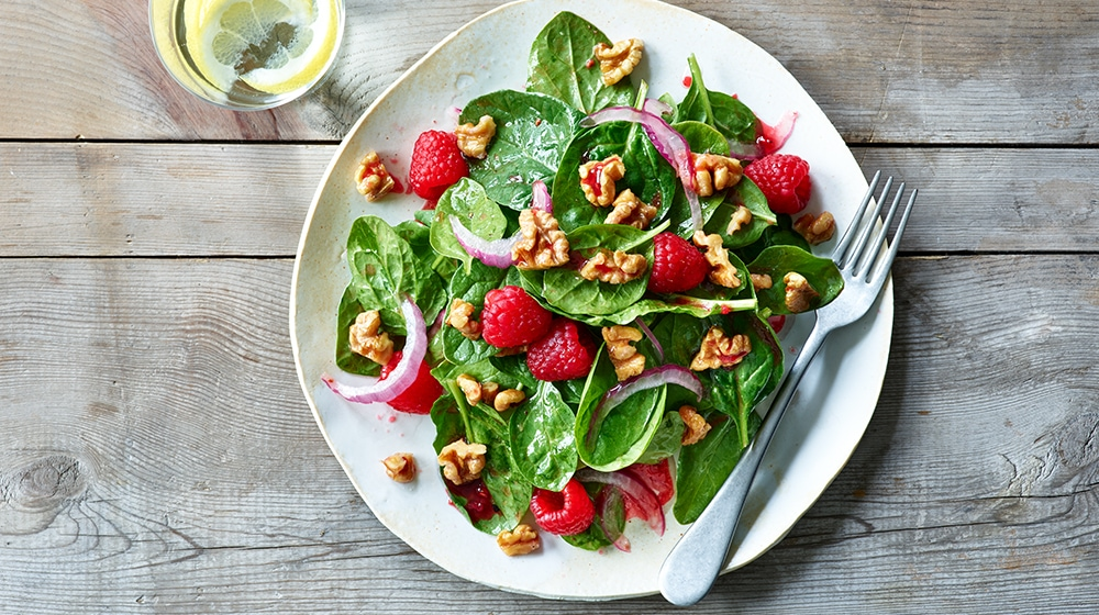 Raspberry Walnut Salad