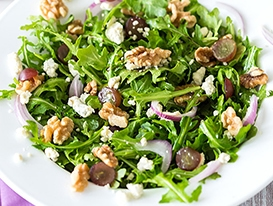 Arugula Walnut Fig Salad