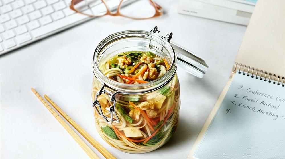 Asian Walnut Chicken Veggie Noodle Jar
