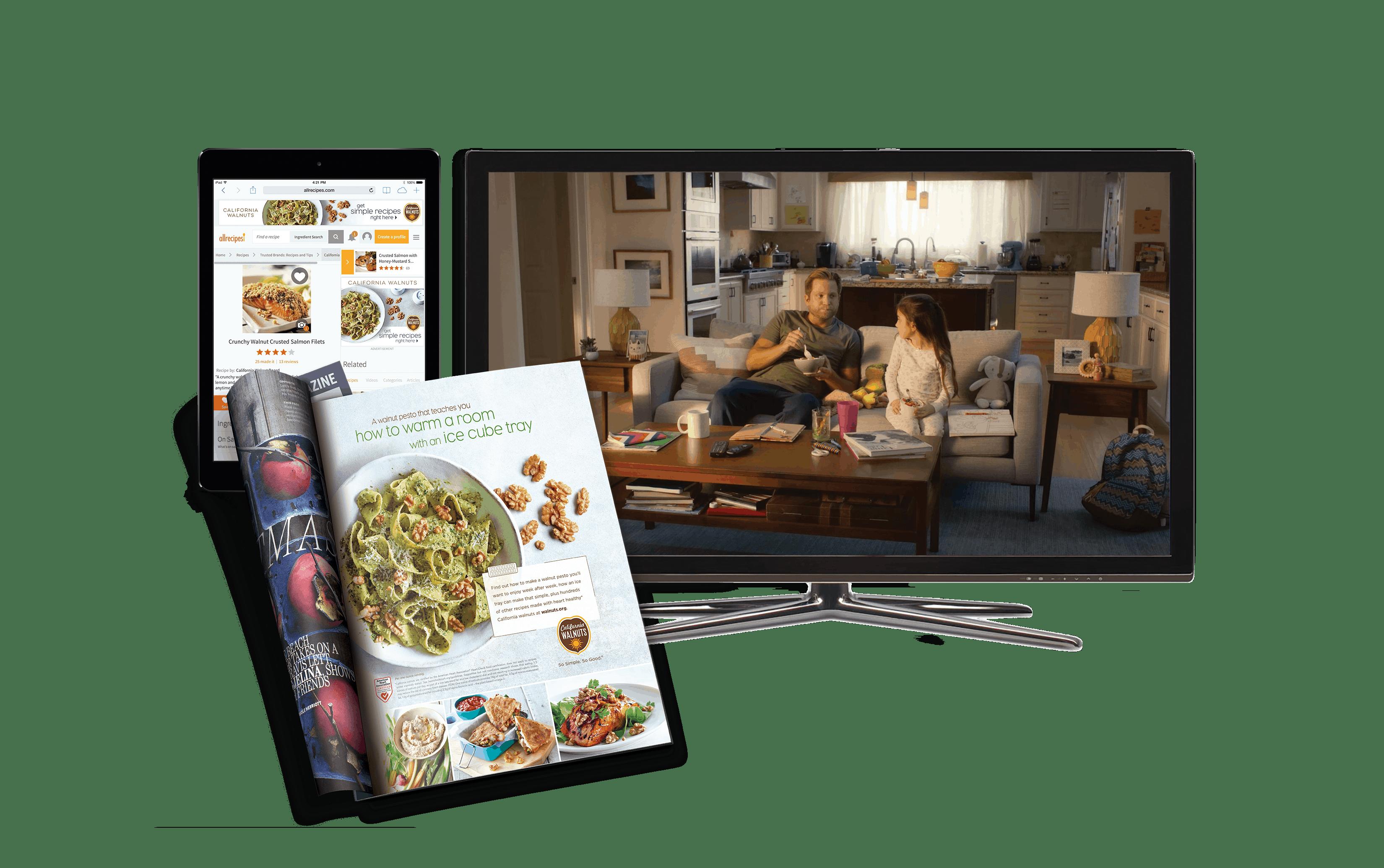 2019-2020 California Walnut Ad Campaign Graphic