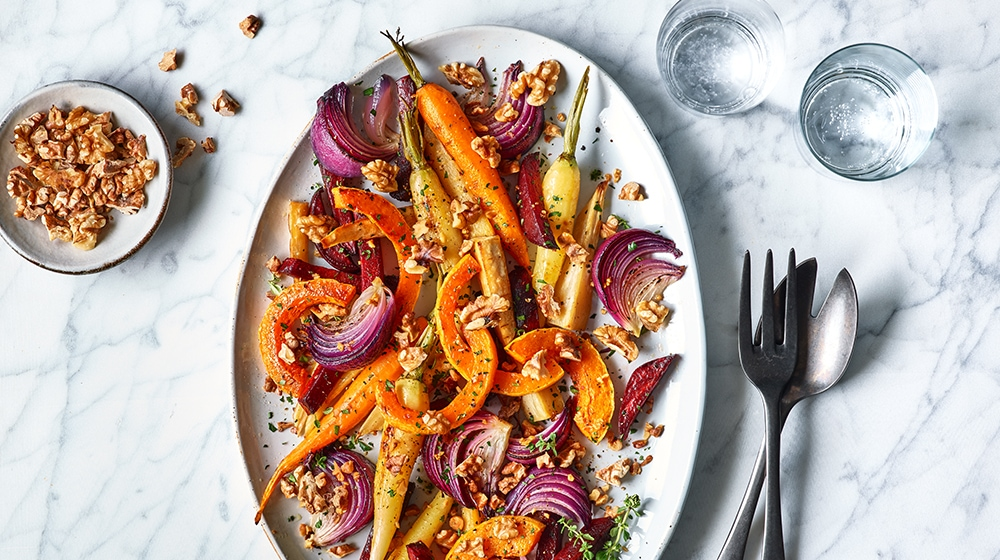Roasted Vegetables with Walnuts