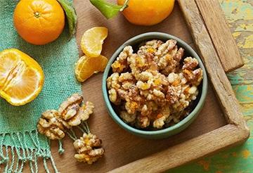 Orange Candied Walnuts