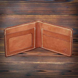Norwich handmade leather wallet