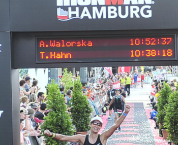 Finish line Ironman Hamburg