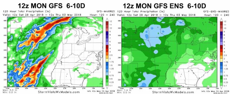 12z GFS chart for April 23, 2018