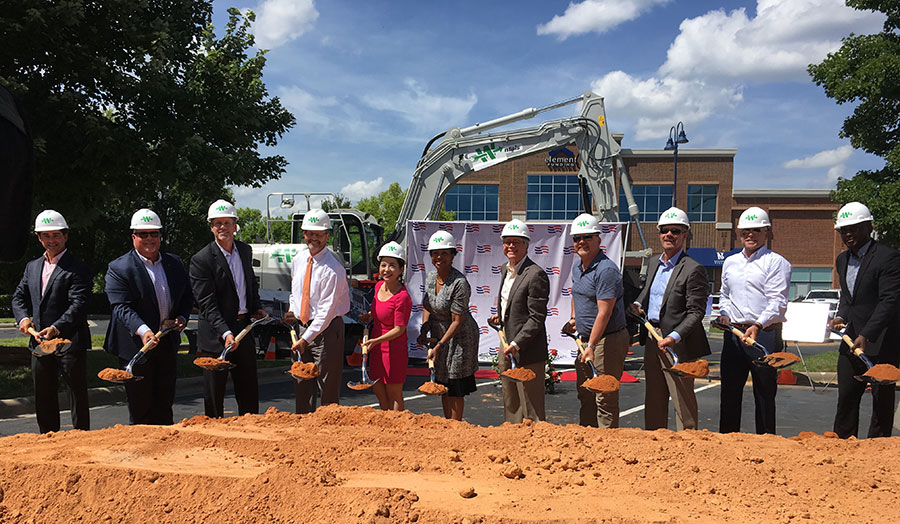 Archer Western breaks ground on 14-story Charlotte tower. featuring hotel and office space