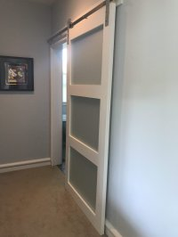 Glass Barn Door - Sliding 3 Panel - Walston Door Company