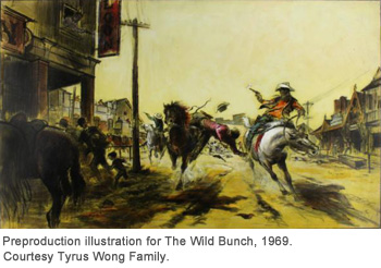 Preproduction illustration for The Wild Bunch