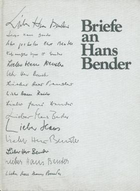 Volker Neuhaus (Hg.): Briefe an Hans Bender