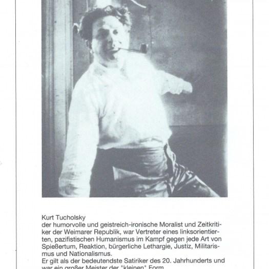 """Programmheft """"De verbrannten Dichter"""" von Walter Stapper, Seite 6"""