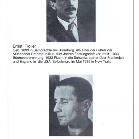 """Programmheft """"De verbrannten Dichter"""" von Walter Stapper, Seite 8"""