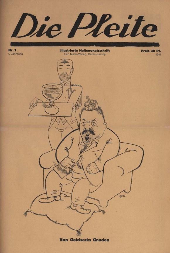 """""""Die Pleite"""", Dada-Zeitschrift von Wieland Herzfelde."""
