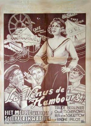 """Das belgische Plakat für """"Ein Mädel von der Reeperbahn"""""""