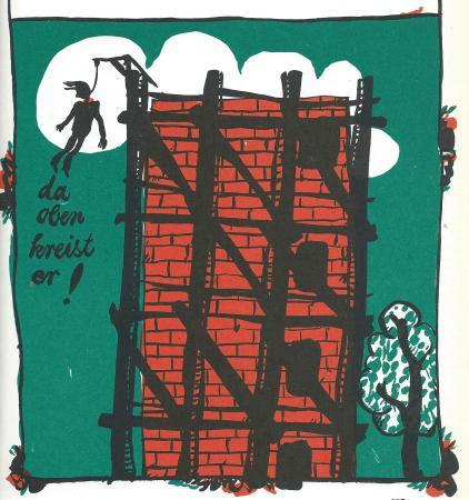 """Illustration von Günther Stiller zur Ballade """"Kinderlied"""""""