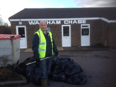 March 2014 litter pick results.