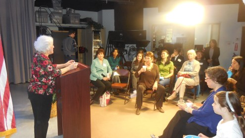 Meeting Waltham's business women at WCAC-TV