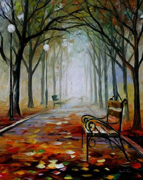 Leonid Afremov - The way to the fog