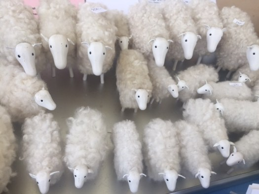 Lots of carved sheep.