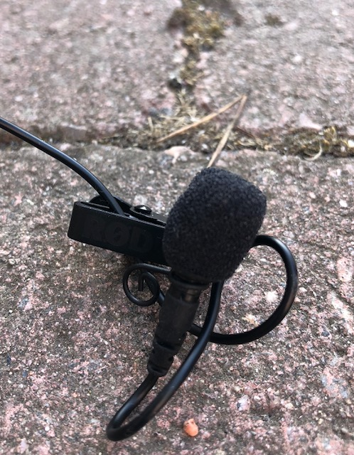 A lavalier microphone